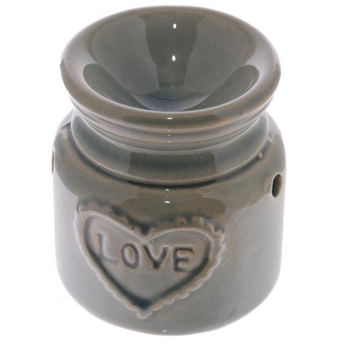 Petit brûleur à huile en céramique en forme de bocal motif Love Lulu Shop 5