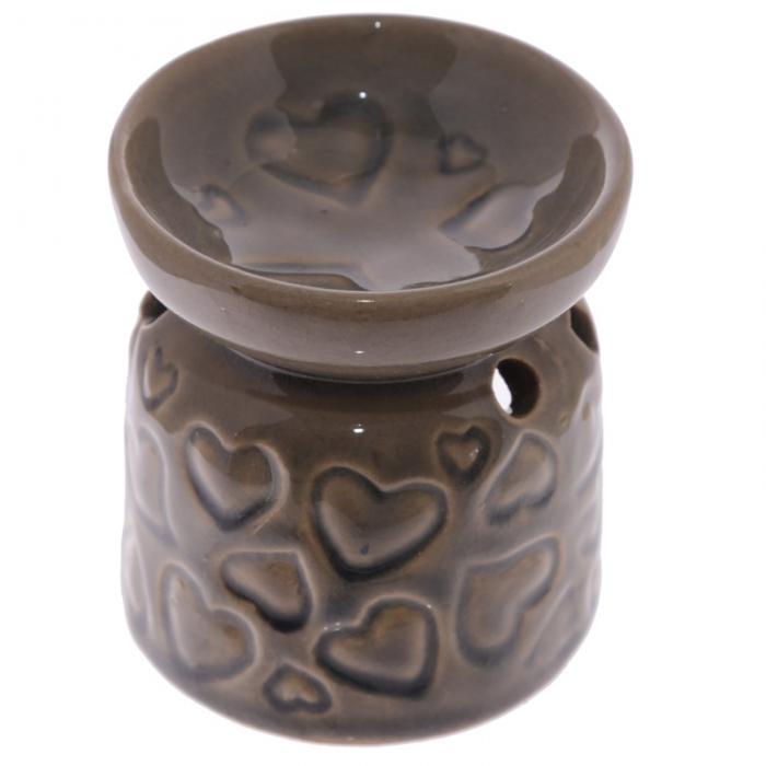 Petit brûleur à huile en céramique avec motifs coeurs Lulu Shop 3