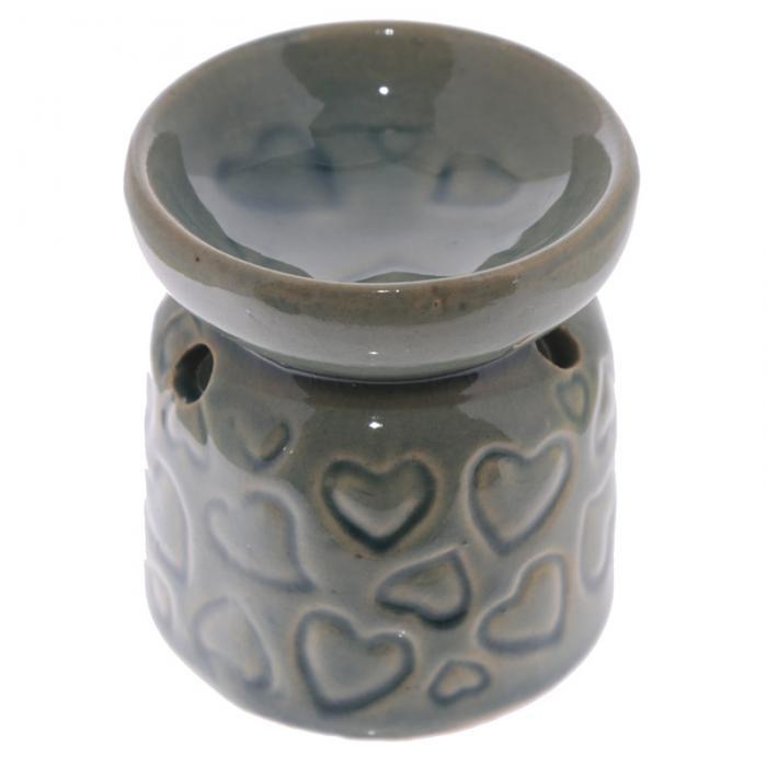 Petit brûleur à huile en céramique avec motifs coeurs Lulu Shop 5