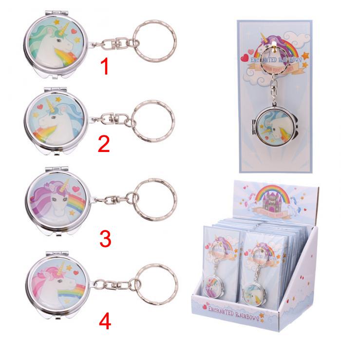 Porte-clés avec miroir de poche - Licorne Lulu Shop 1