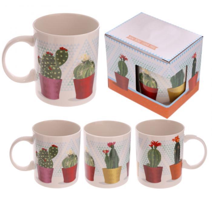 Mug porcelaine Cactus en pot Lulu Shop 1