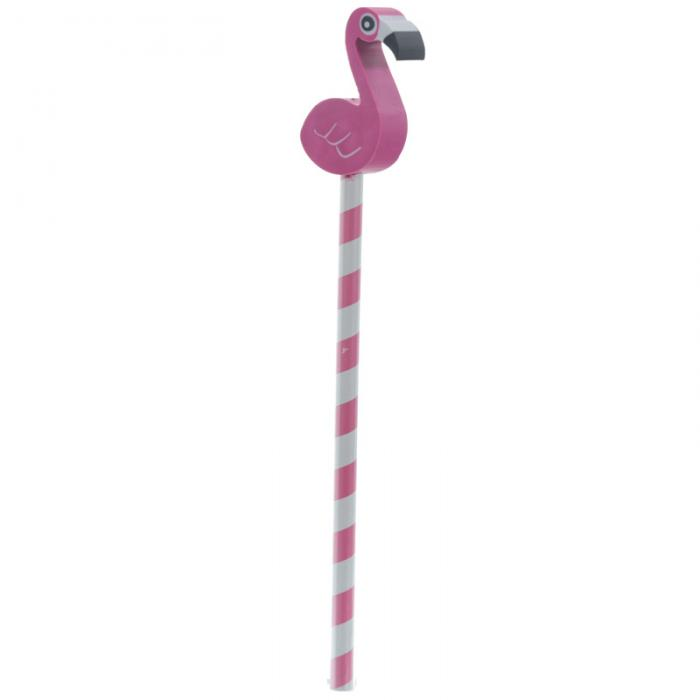 Crayon Tropical avec Bouchon Gomme Flamant Rose & Ananas Lulu Shop 5