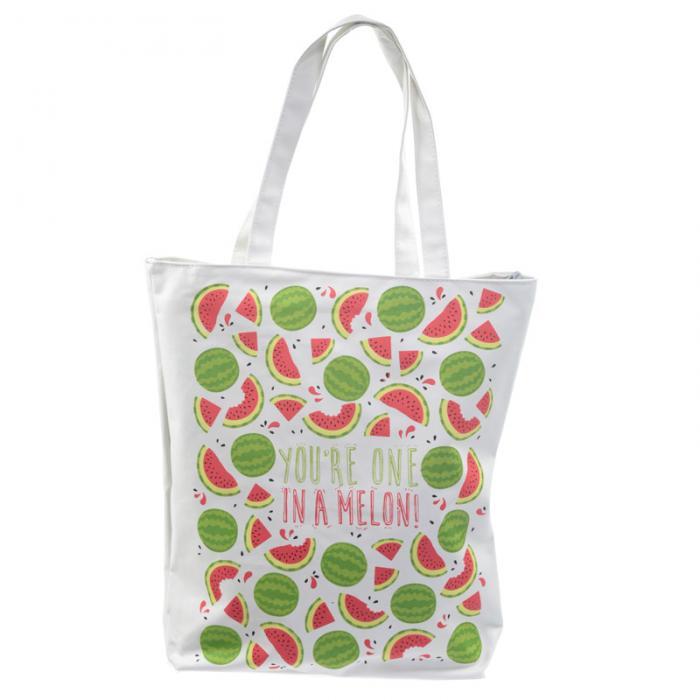 Sac en coton avec fermeture éclair et doublure - Fruits Pastèque Lulu Shop 1