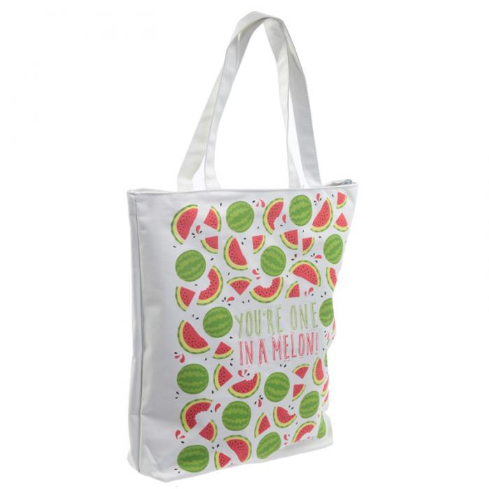 Sac en coton avec fermeture éclair et doublure - Fruits Pastèque Lulu Shop 2