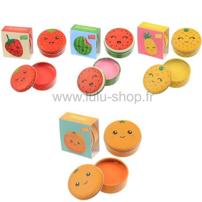 Brillant à Lèvres Gloss Personnage Tête de Fruit lulu shop