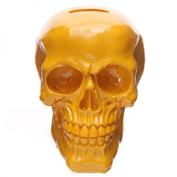 Tirelire crâne poli jaune lulu shop 1