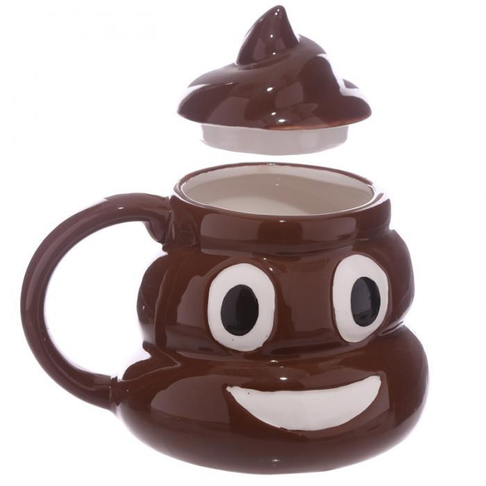 Mug Emotive Poop avec couvercle lulu shop 2