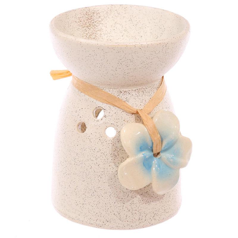 Bruleur à Huile Céramique fleur bleu lulu shop