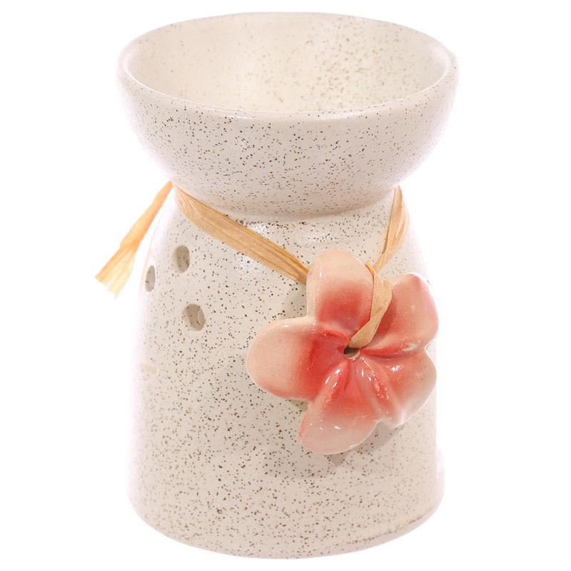 Bruleur à Huile Céramique fleur rose lulu shop