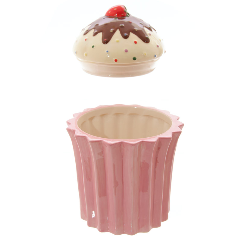 Pot en forme de cupcake rose lulu shop 2