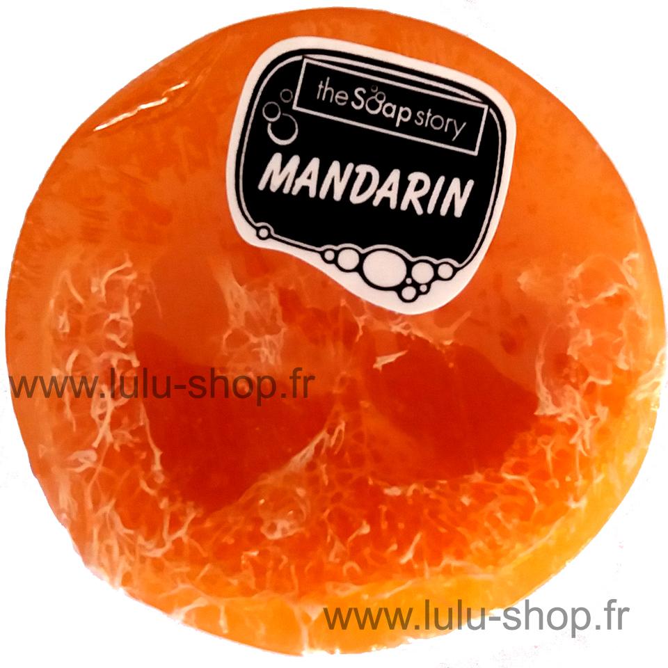 Savon Loofah mandarine lulu shop