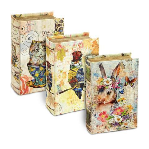 Boîte cadeau en forme de livre  Animaux Lulu shop