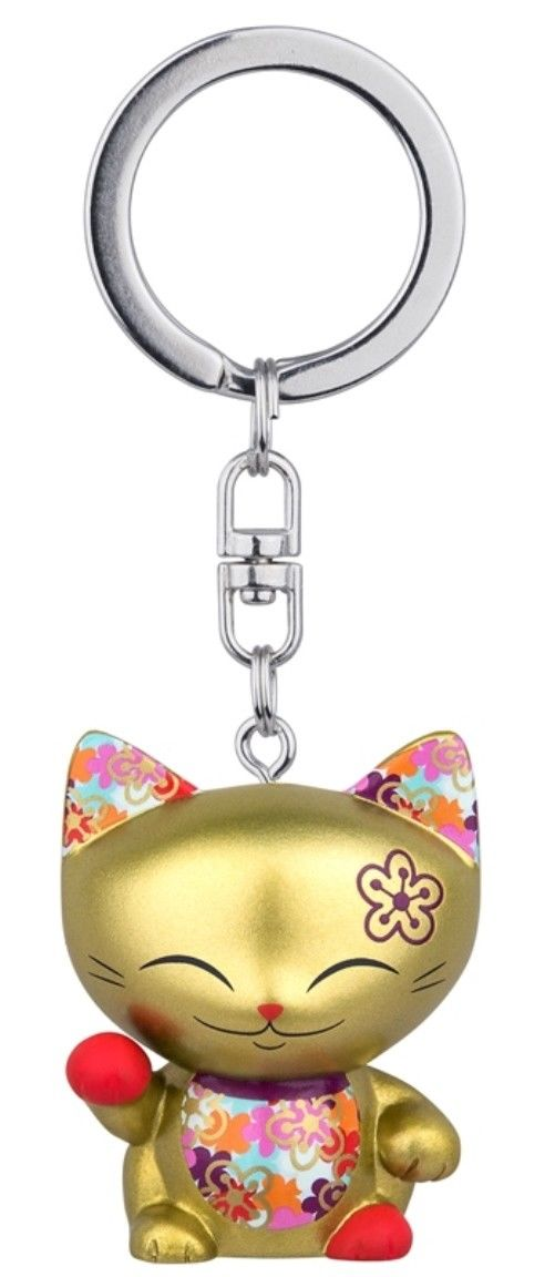 Porte clés Mini Figurine Mani the lucky cat N 61 lulu shop