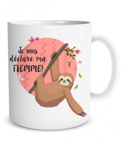 Mug Paresseux  Je vous déclare ma flemme lulu shop