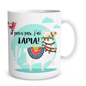 Mug Lama J'peux pas, j'ai lama lulu shop