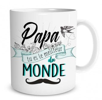 Mug Family & Friend  Papa tu es le meilleur du monde lulu shop (2)
