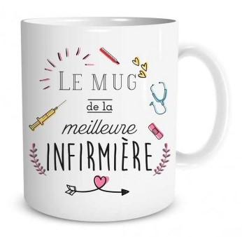 Mug Family & Friend Le mug de la meilleure infirmière lulu shop (2)