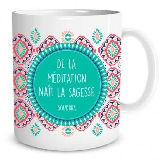 Mug Bien-être De la méditation naît la sagesse lulu shop (2)