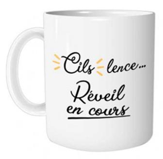 Mug Cils Cils lence... Réveil en cours lulu shop 2