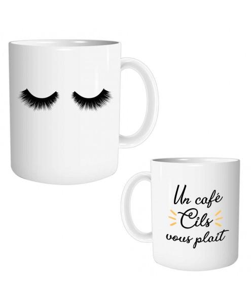 Mug Cils Un café cils vous plait lulu shop