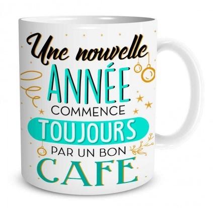 Mug Bonne Année Une nouvelle année commence toujours par un bon café lulu shop (2)