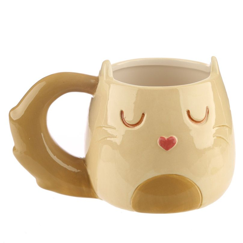 Mug Chat Caramel Beige & Brun  Lulu Shop