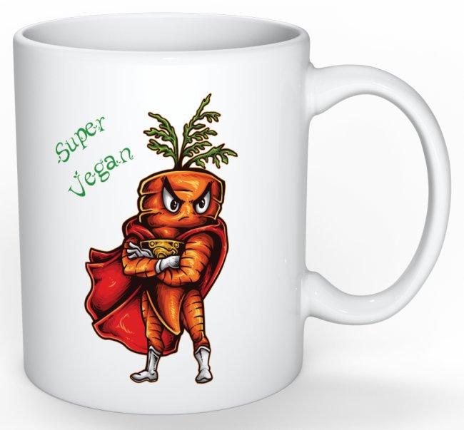 Mug Cadeau pour Végan Carotte Super Végan lulu shop (1)