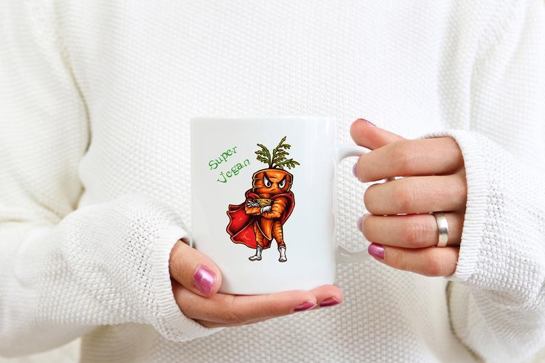Mug Cadeau pour Végan Carotte Super Végan lulu shop (4)