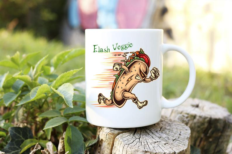 Mug Cadeau pour Végan  Hot Dog Flash Veggie lulu shop (3)