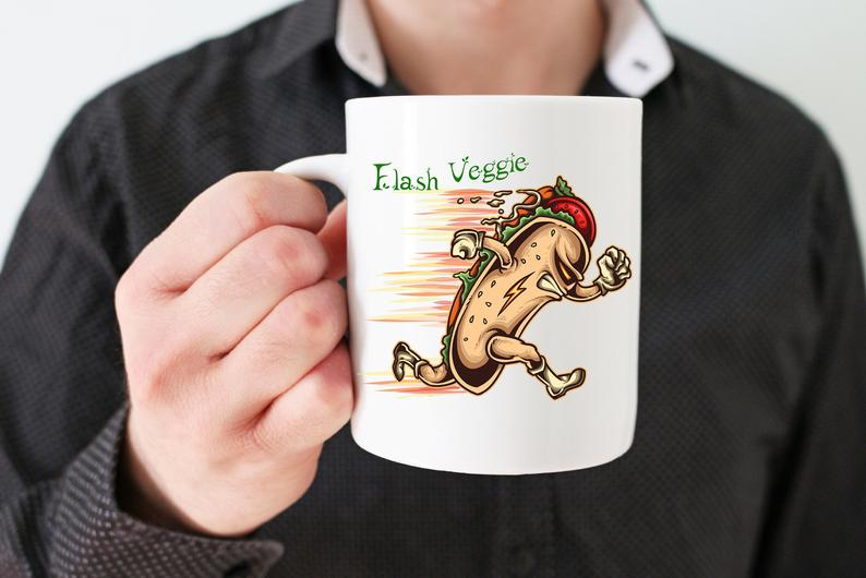 Mug Cadeau pour Végan  Hot Dog Flash Veggie lulu shop (5)