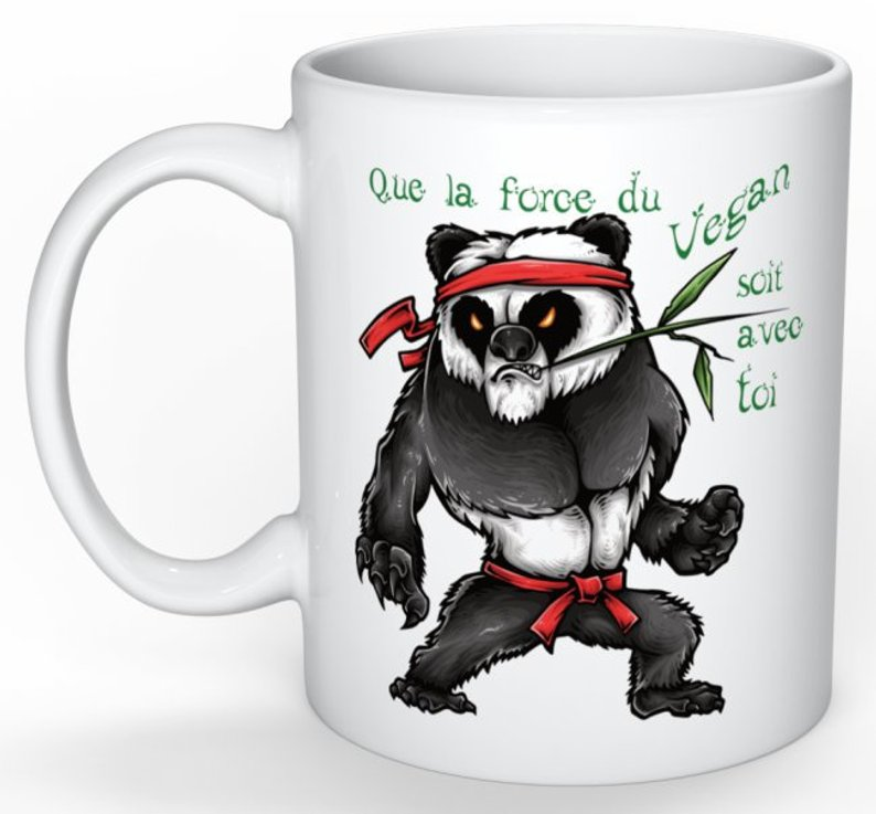 Mug Cadeau pour Végan  Panda Yoda Végan lulu shop (1)