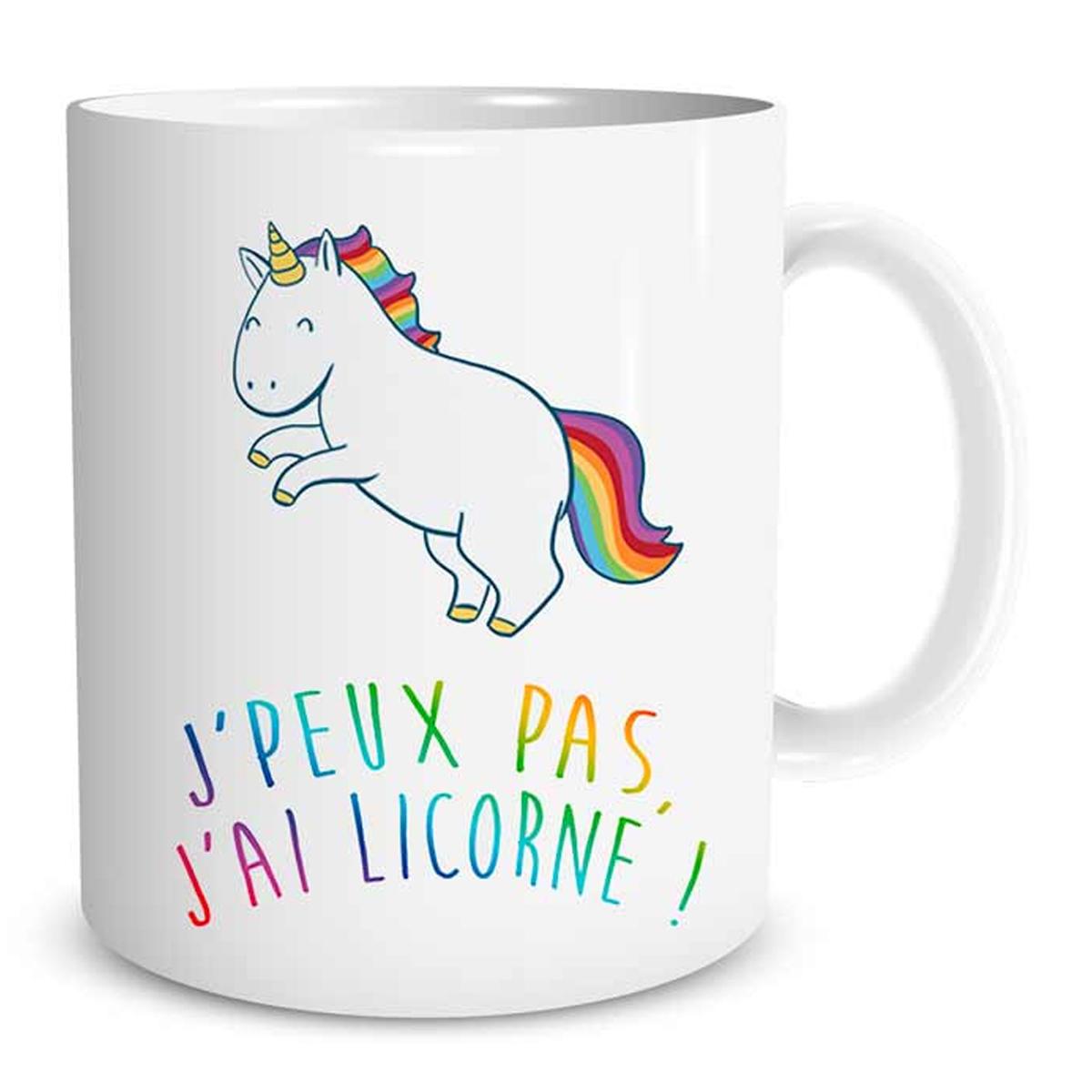 Mug Licorne J'peux pas, j'ai licorne ! LULU shop