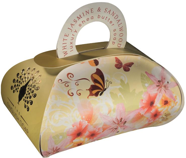 Savon ballotin cadeau Lulu shop the english soap company jasmin blanc et bois de  santal