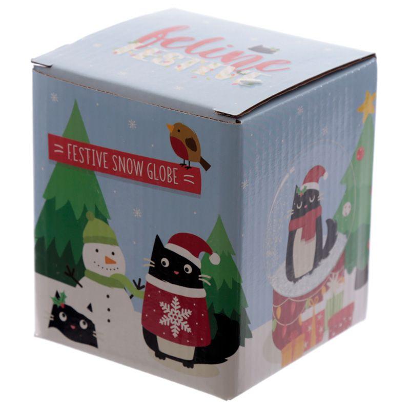 Boule à Neige Chat de Noël lulu shop3