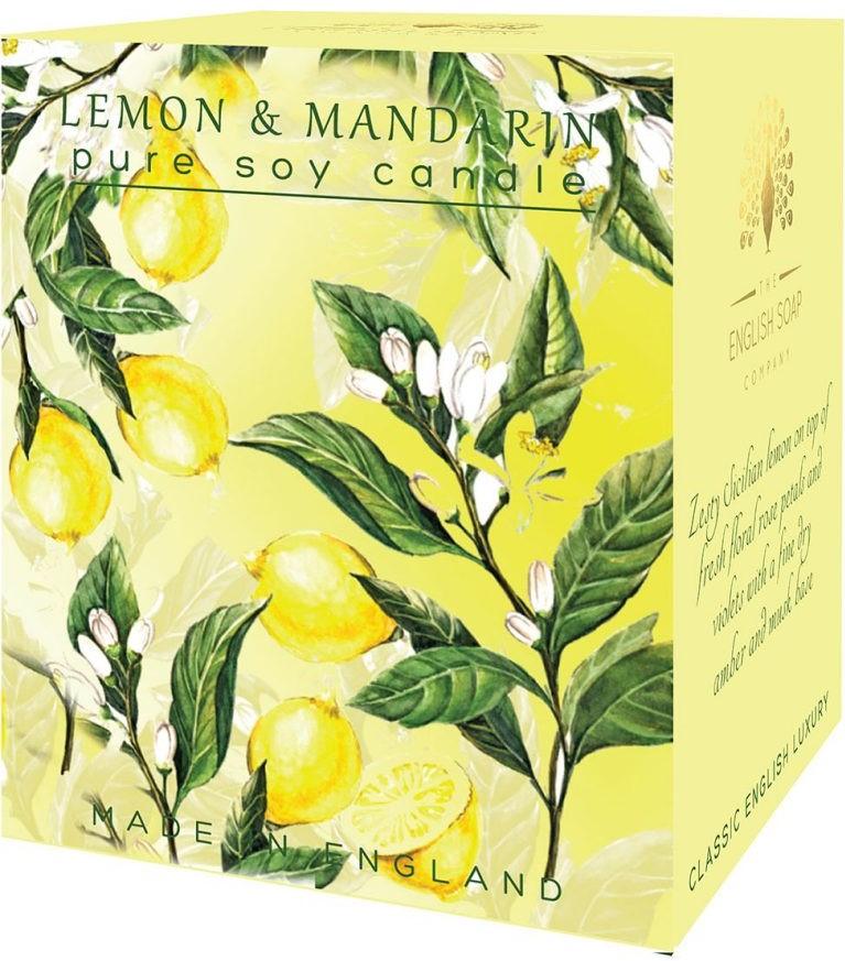 Bougie 35 heures  Citron mandarine lulu  shop