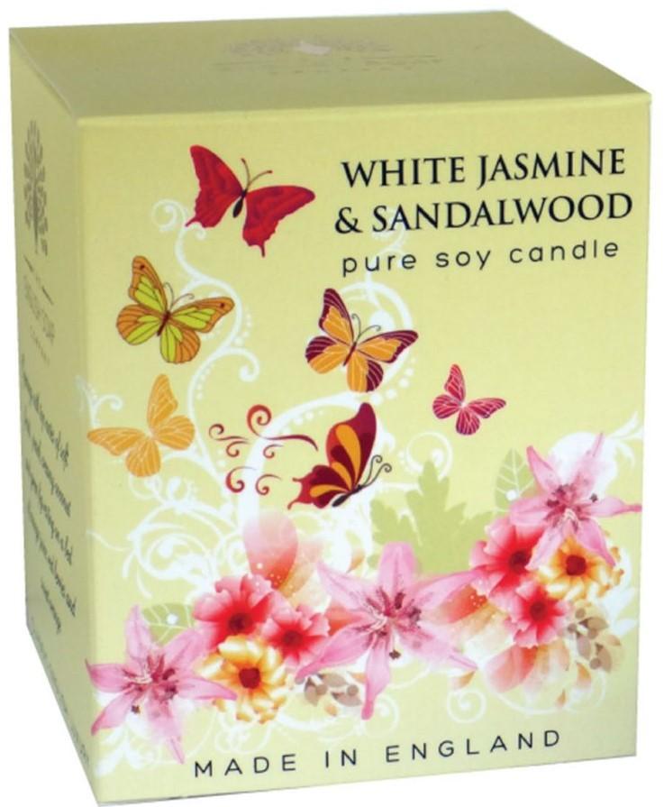 Bougie 35 heures Jasmin blanc et Bois de santal  lulu  shop