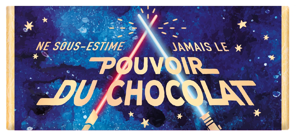 Tablette de chocolat Message Ne sous-estime jamais le pouvoir du chocolat lulu shop