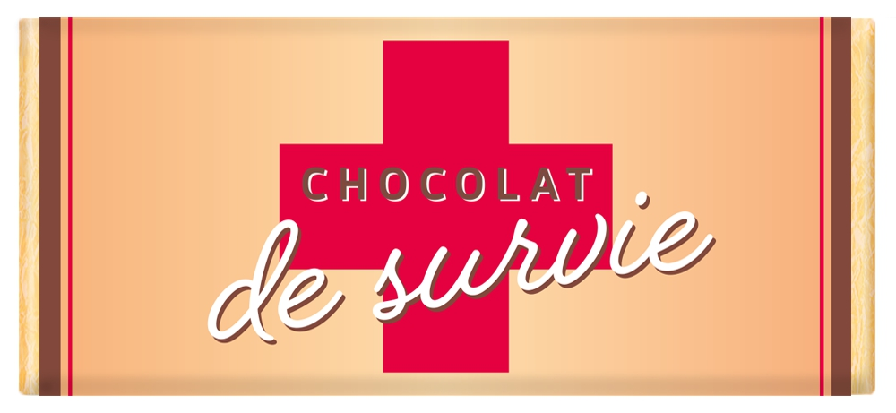 Tablette de chocolat Message  Chocolat de survie lulu shop