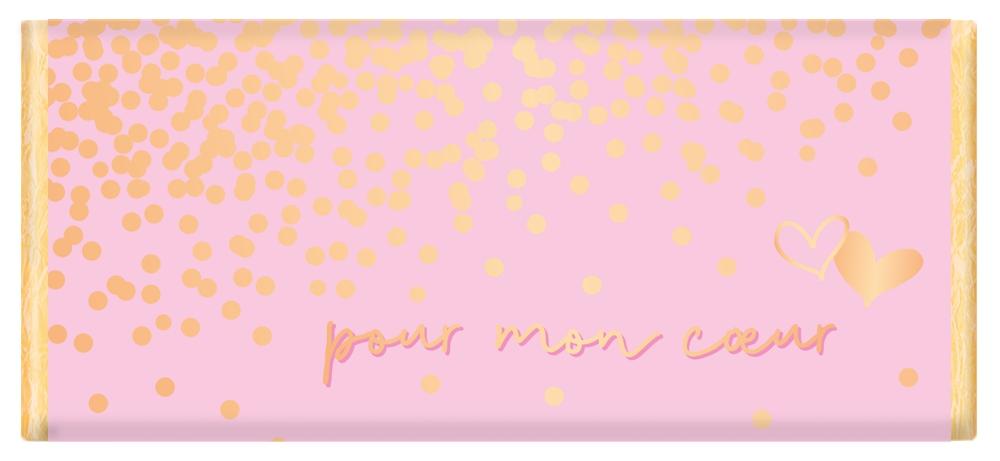 Tablette de chocolat Message Pour mon cœur lulu shop