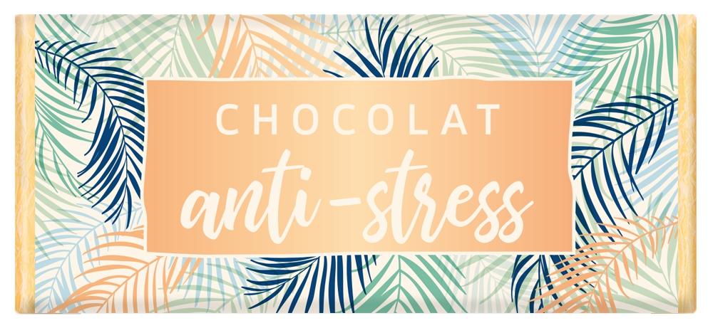 Tablette de chocolat Message Chocolat anti-stress lulu shop