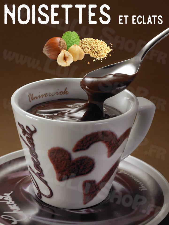 Lulu Shop Chocolat Chaud Italien Univerciok 8 Noisettes avec éclats de noisettes