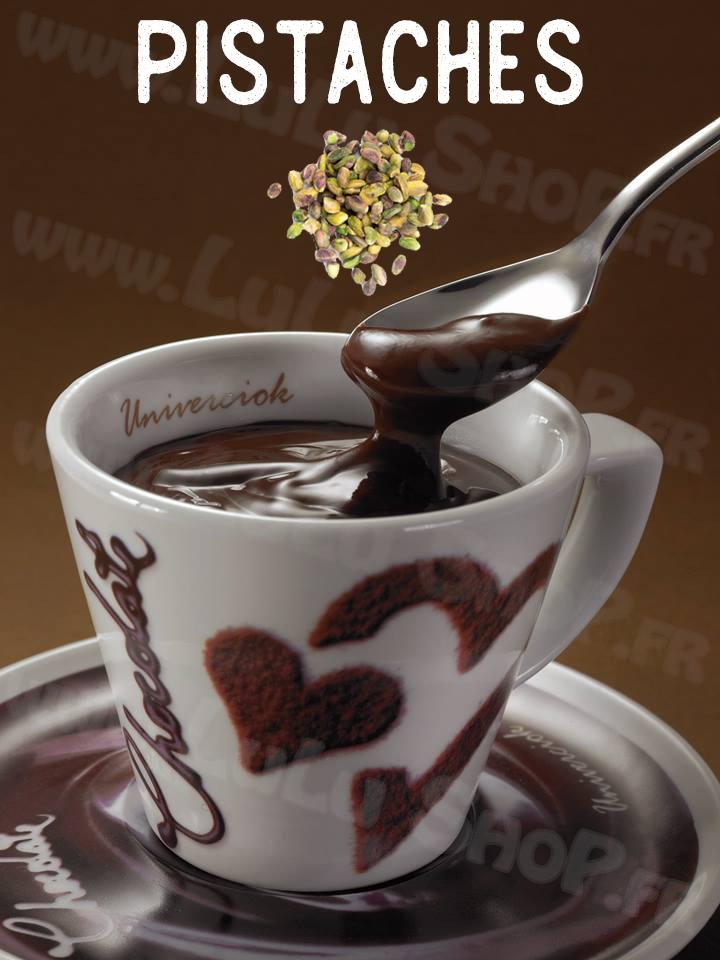 Lulu Shop Chocolat Chaud Italien Univerciok 10 Pistaches et éclats de pistaches pralinés