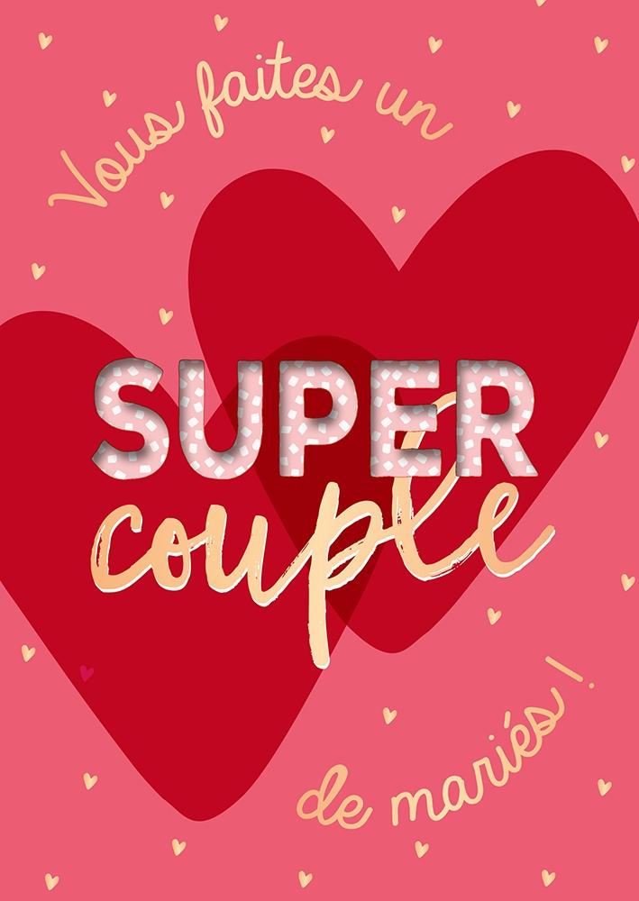 Lulu Shop Cartes postales musicales Vous faites un super couple de mariés 26568