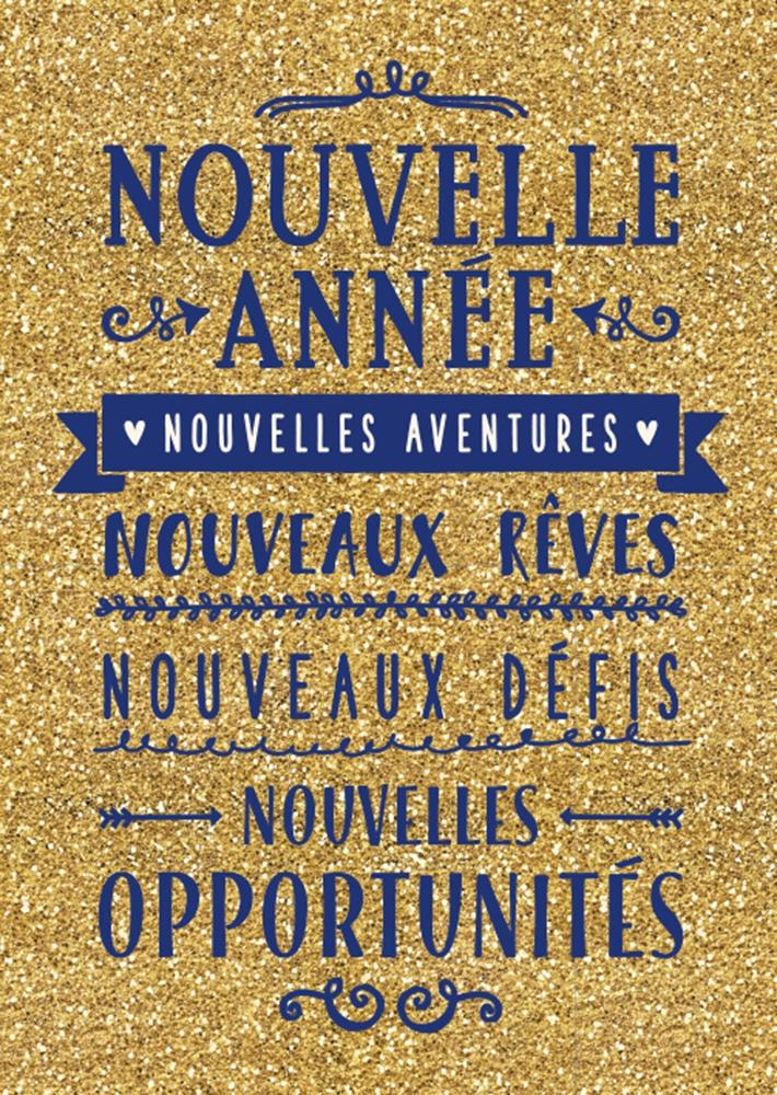 Lulu-Shop.fr Cartes postales Nouvelle année Nouvelle aventures Nouveaux rêves Nouveaux défis Nouvelles opportunités 3326320