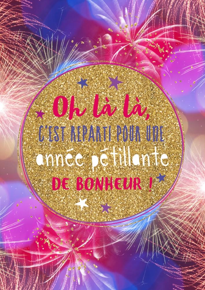 Lulu-Shop.fr Cartes postales Oh là là, c'est reparti pour une année pétillante de bonheur! 3326317