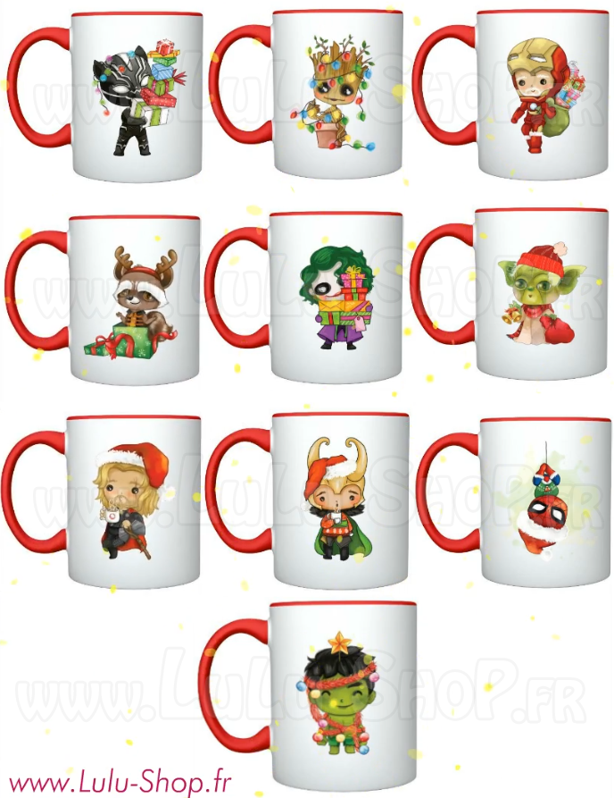 Mugs Tasses Inspiration Comics Marvel Lulu shop