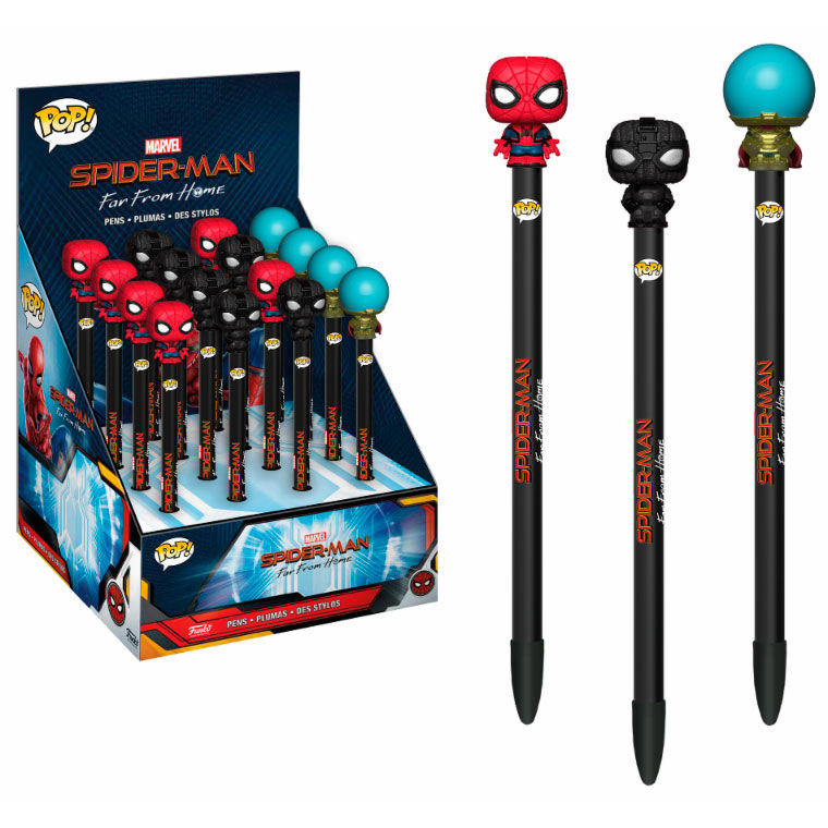 Stylos Marvel Funko POP! stylos à bille avec embouts Spiderman lulu shop