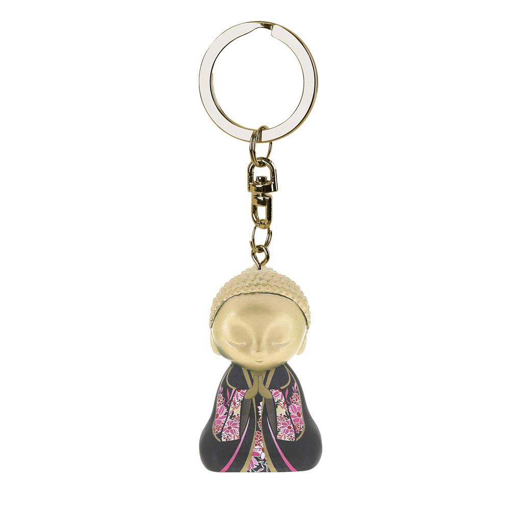 Porte clés Mini Figurine Little Buddha Tu mérites amour et affection lulu shop