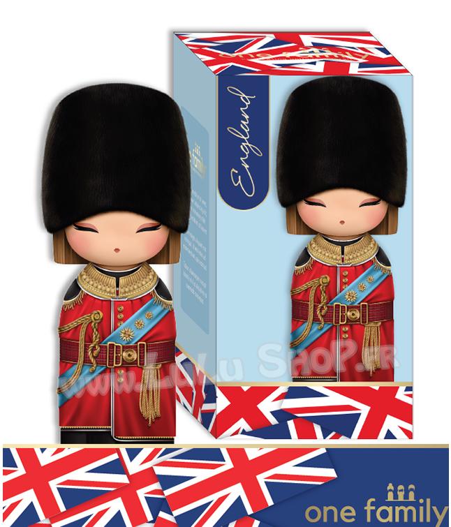 Lulu Shop poupée japonaise Kokeshi Figurine Ambassadrice One Family™ Angleterre Charlotte 1