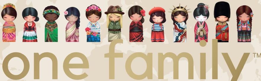 Lulu Shop poupée japonaise Kokeshi Figurine Ambassadrice One Family™